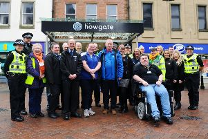 Police officers will be joined by various partnership organisations in spreading a winter safety message from a hub within the Howgate Shopping Centre in Falkirk. Picture: Michael Gillen