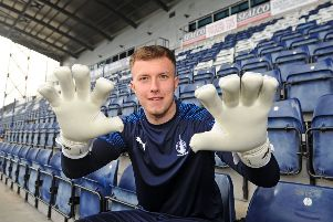 The goalie has seen the ugly side of football at Bury. Picture: Michael Gillen.