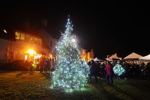 Strathcarron Hospice's Light up a Life sevice.  Pic: Michael Gillen.