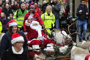 Santa Claus and his reindeer are back in Falkirk High Street from 2pm tomorrow.