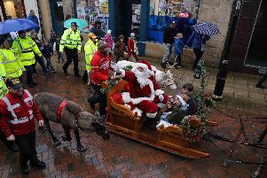 The annual Santa and reindeer parade in Falkirk High Street on December 7. Picture by Jamie Forbes.