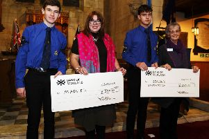 Falkirk district Boys' Brigade members give to charities at carol concert