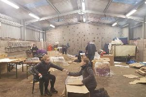 Scouts and Explorers braved the bad weather at Barrwood to support SocialBite's sleep out.