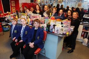 NHS staff's support for Larbert High pupils