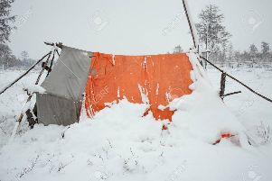 A spopt of bad weather will not deter winter Scout camp!