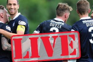 Falkirk take on Arbroath in the William Hill Scottish Cup at Gayfield
