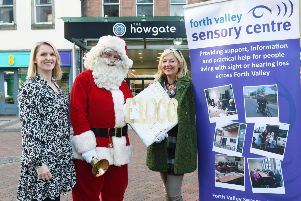 Howgate Santa hands over gift to Forth Valley Sensory Centre