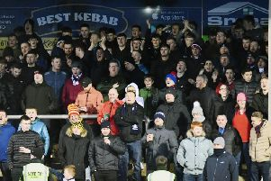 Falkirk fans at Arbroath