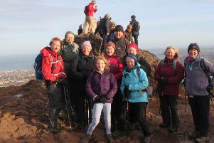The group at Arthur's Seat in Edinburgh.