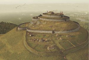 An artist's impression of a fort at East Lomond