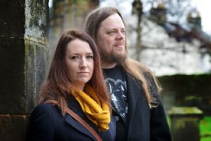 Sarah and Lawrie are behind the plans to build the studio and creative hub in Kirkcaldy. Pic by George McLuskie.