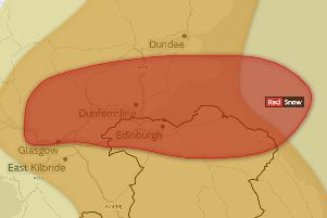 The red warning. Picture: Met Office