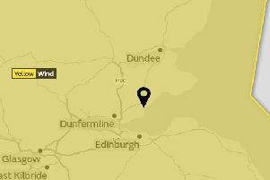 Fife is among the areas which will see strong winds.