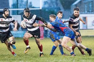 Action from Kirkcaldy's defeat at Kelso on Saturday. Pic: Gavin Horsburgh