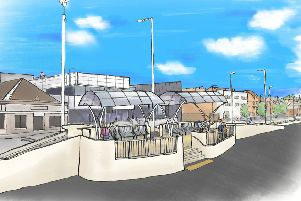An artist's impression of the Kirkcaldy Waterfront regeneration plan