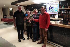 The winning Forret team at the Rink Cup outing to Kelso.