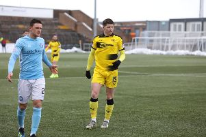 Kevin Nisbet during Saturday's match at Forfar (Pic by Chris Coutts)