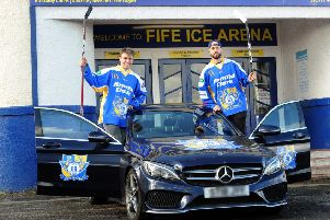Jordan Buesa and Brett Bulmer, who has been suspended by DOPS. Pic: Fife Photo Agency