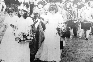 Fun Day parade in 1989 headed by Dysart Queen Vivienne Strang