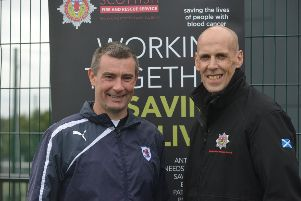Gary (right) with former Raith manager Barry Smith