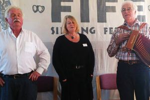 FifeSing 2019 organisers Jimmy Hutchison, Chris Miles and Pete Shepheard.