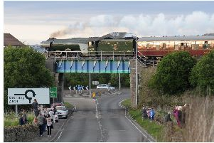 The Flying Scotsman will be travelling through Fife once again this Sunday. Pic: George Mcluskie.