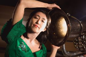 One of the performers in Sound Symphony is Shiori Usui who plays'the marimba, percussion and sings. Pic: Eoin Carey.