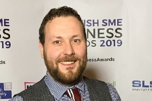 Fraser Rolley from Greens chain of stores named Team of the Year at the 2019  Scottish SME Business Awards.