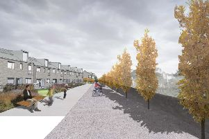 The shared path along Den Road in Kirkcaldy as set out in the new masterplan. Pic: UrbanPioneers.