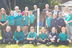 Peace pole unveiled in Strathmiglo