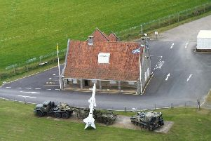 Aerial view of the Secret Bunker Guard House.