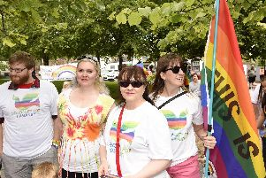 Hundreds of people celebrated in the town centre as Fife Pride took place in Kirkcaldy on Sunday (July 7).
