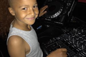 Jaxxson Shields (9) on the decks! He is just one of a number of youngsters who will be attending the tots disco at Kitty's on Saturday.