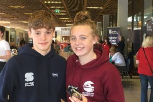 Mark Scott and Erin Taylor of Fins Swimming Club