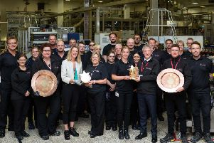 Trade minister Ivan McKee celebrates Leven packaging plant's global award. Picture: Tracy Gow