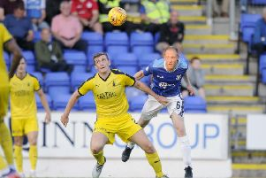 New Raith Rovers loan signing Steven Anderson (right) (Picture: Michael Gillen)