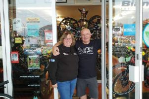 Leslie Bike Shop owners Fiona and Andy Hain have retired after 38 years.