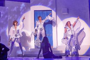 Mamma Mia 2019 tour - from left  Helen Anker, Sharon Sexton and Nicky Swift (Pic: Brinkhoff-Moegenburg)