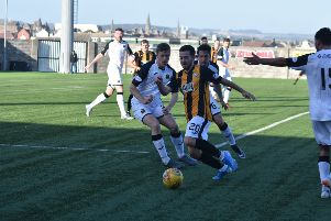East Fife's debutant Steven Boyd in the 2-2 draw