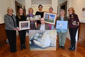 The handover of the 2018 Fife Art Exhibition winning artworks to NHS Fife.