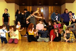Members of YMTS (Youth Music Theatre Scotland) rehearsing for their latest show. Pic: Fife Photo Agency.