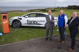 Lindsay Wallace, Forev Ltd, Founder and CEO'Andrew McKinlay, Scottish Golf CEO'Jim McArthur, Forev Ltd, Operations Director
