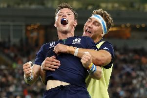 George Horne and Jamie Ritchie can be proud of their World Cup efforts. Pic by Mike Hewitt/Getty Images.