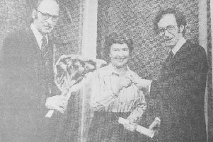 October 1979 - the first ever council house in Kirkcaldyt was bought by Mrs Ann Smith. The presentation was made by Malcom Rifkind, Under-Secretary of State at the Scottish Office, anbd Councillor Douglas Mason, chairman of the council's housing committee
