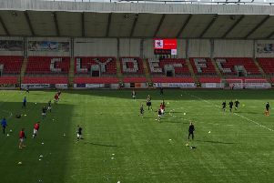 Broadwood Stadium, home of Clyde FC.