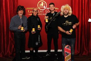 Danny Cepok from the Kings management board, Mark Duncan from Coul Brewery, Stephen Barbour and Sandy Henderson from the Kings. Pic credit: Fife Photo Agency