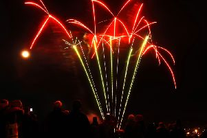 The annual  bonfire and firework display in Burntisland. Kirkcaldy will have a fireworks display for the first time in over 25 years next week. Pic : FIFE PHOTO AGENCY.
