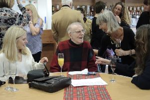St Andrews Woollen Mill co-founder Bob Philip enjoys being the centre of attention at the reunion, his brother Raymond sadly passed away in 2015.