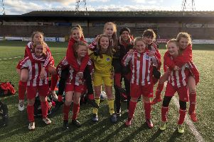 The club's U13s celebrate after the win at Forfar.