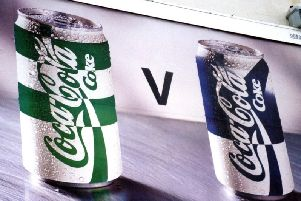 A billboard used to promote the 1994 Coca-Cola Cup final. Pic: Tony Fimister